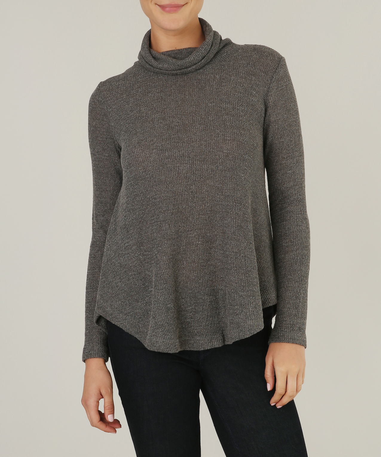 waffle cowl neck sweater | guilty